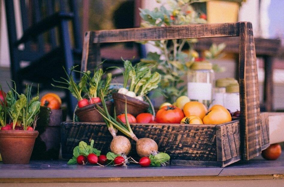Gemüse auf dem Balkon